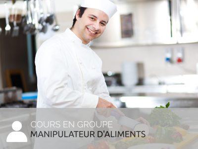 Manipulateur d'aliment cours Mapaq en groupe